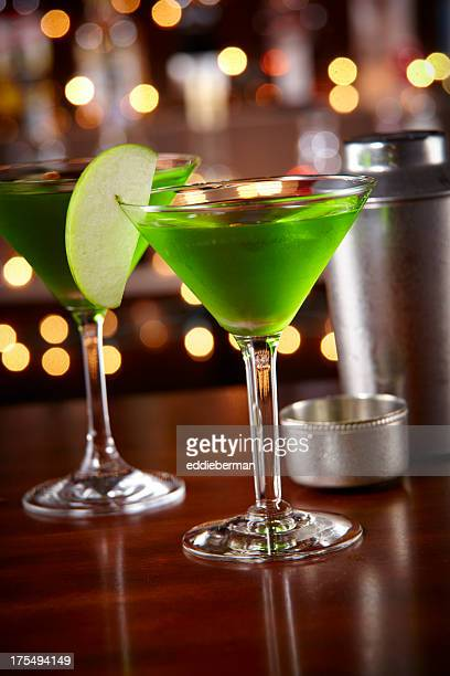 Appletini at a bar