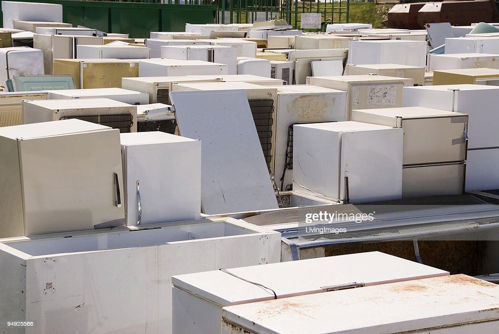Appliance Graveyard : Stock Photo