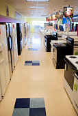 Appliance store aisle