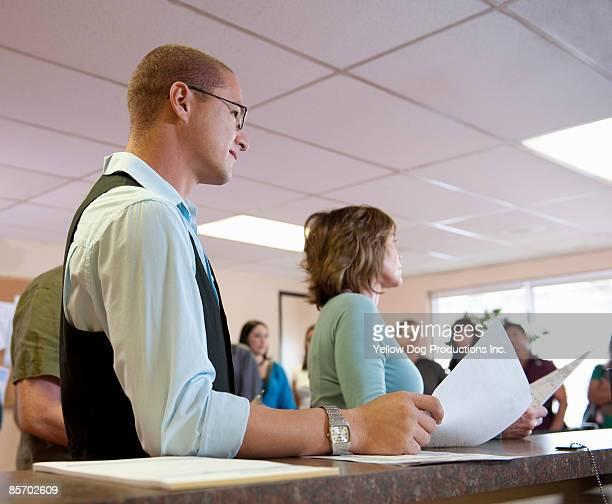 Applicants  Waiting at Counter
