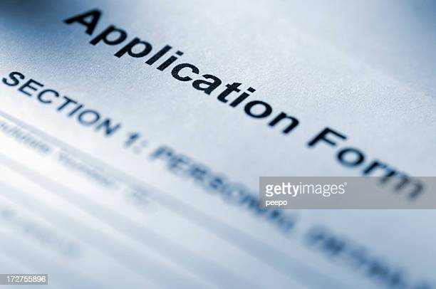 Application Form Stock Photos And Pictures | Getty Images