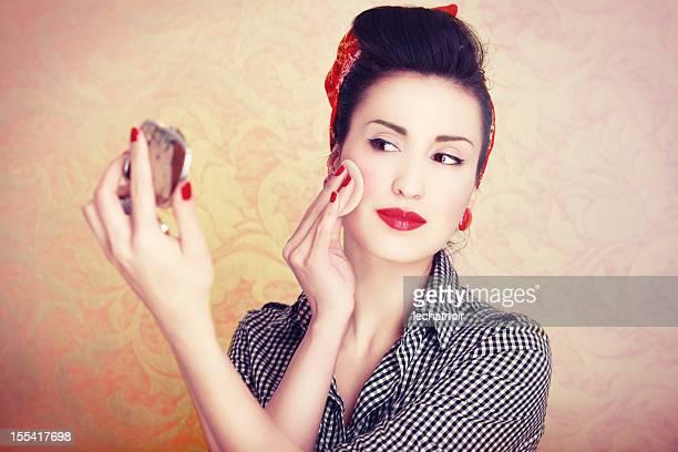 Applying Blush Makeup
