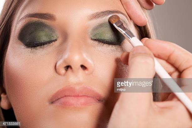 Applying professional make-up