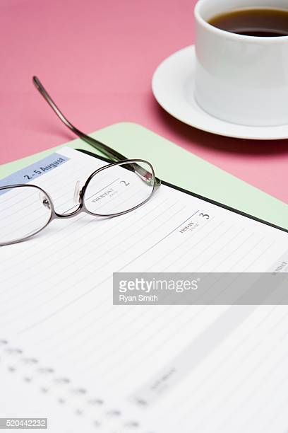 Appointment Book and Eyeglasses