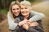 Cropped portrait of a woman spending time with her elderly mother