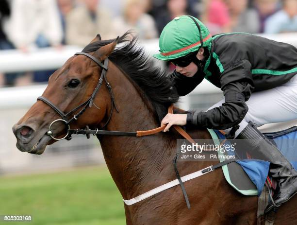 Apprentice jockey Ian Brennan finishes in second place on Violent Velocity in the Sign Up Bonus at betinternetcom stakes at York Races today He raced...