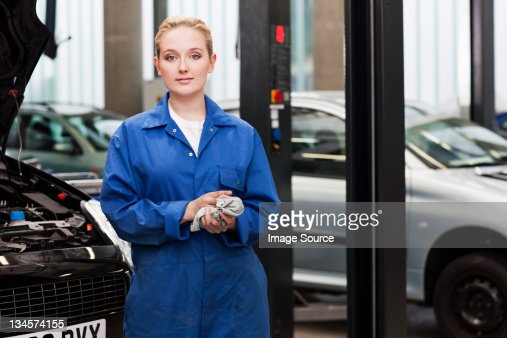 Apprentice mechanic, portrait