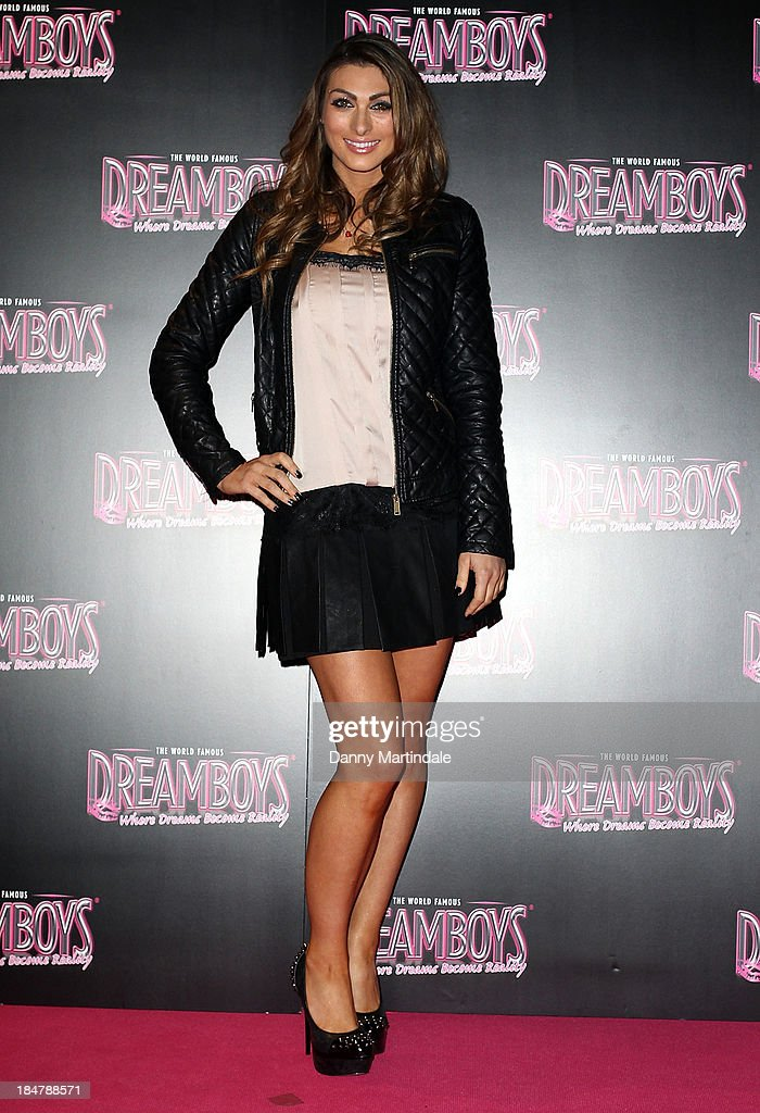 Apprentice star Luisa Zissman attends as the Dreamboys hold a Gala performance at Rise Supperclub on October 16, 2013 in London, England.