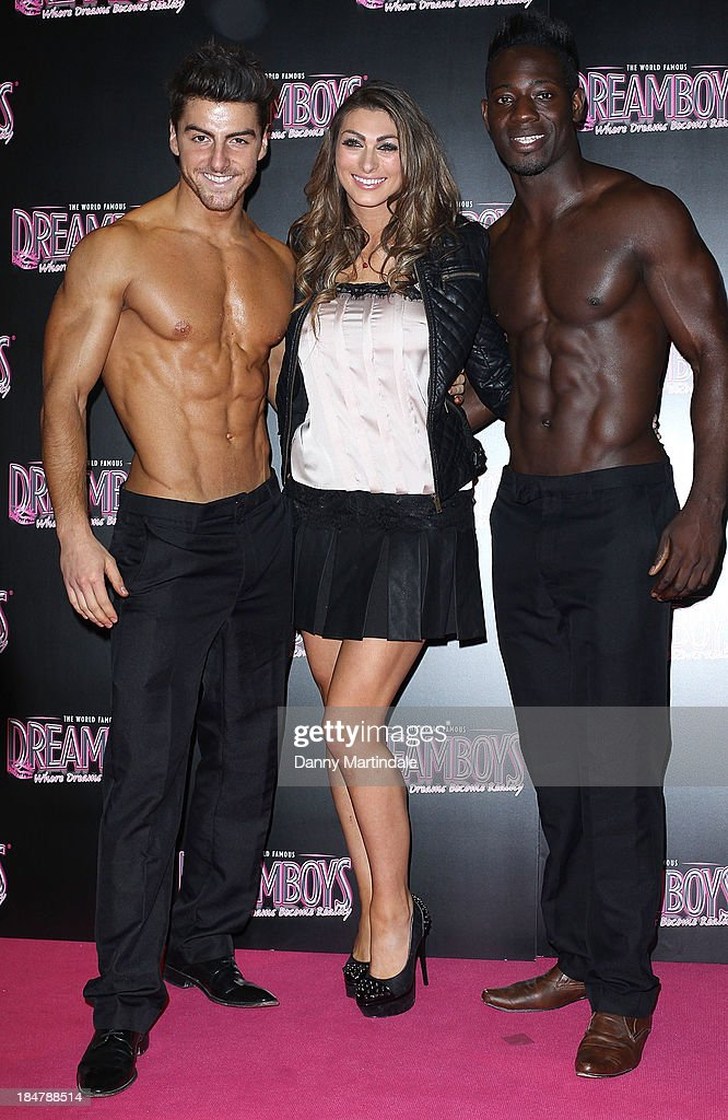 Apprentice star Luisa Zissman is seen with topless male models at the Dreamboys hold a Gala performance at Rise Supperclub on October 16, 2013 in London, England.