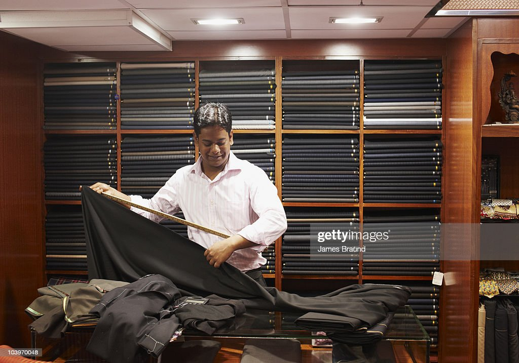 Apprentice Tailor : Stock Photo