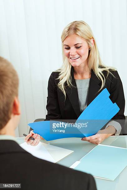 Approachable  Friendly Business Human Resource Manager Interviewing New Hire Recruitment