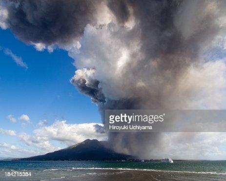 Approaching volcanic ash cloud