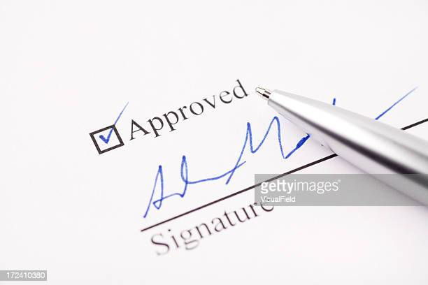 Approved and Signed