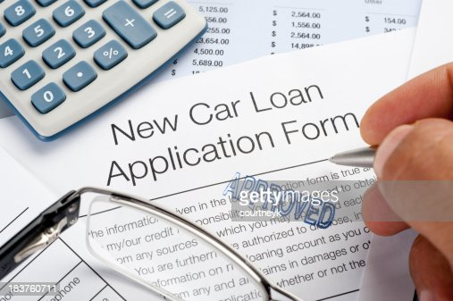 Approved Car Loan Application Form With Pen Calculator Writing Stock Photo | Getty Images
