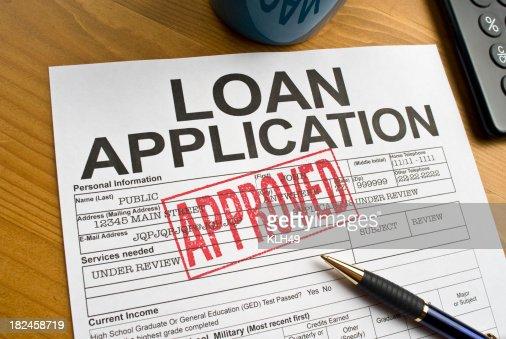 Approved Loan Application on a desktop