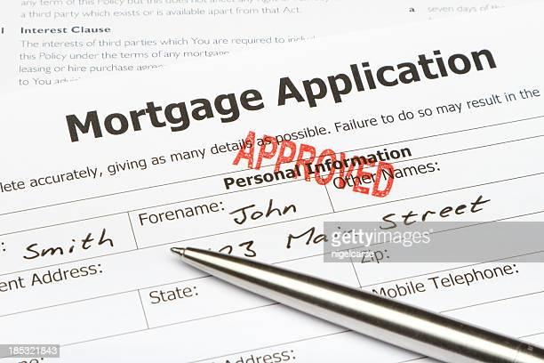 Hypothek Antrag genehmigt