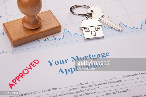 Approved Mortgage Application : Stock Photo