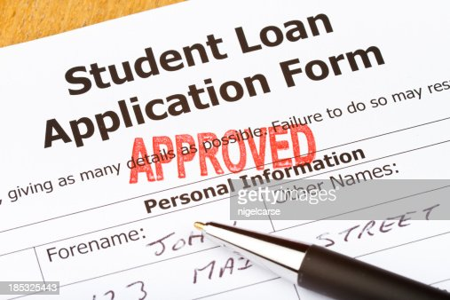 Approved Student Loan Application Form Stock Photo  Getty Images