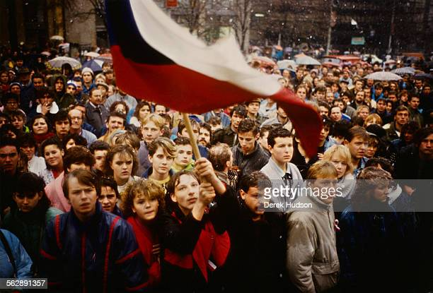 Approximately 250000 people demonstrate in Wenceslas Square to call for greater liberty and the resignation of General Secretary of the Communist...
