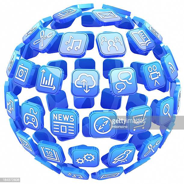 Apps blue sphere