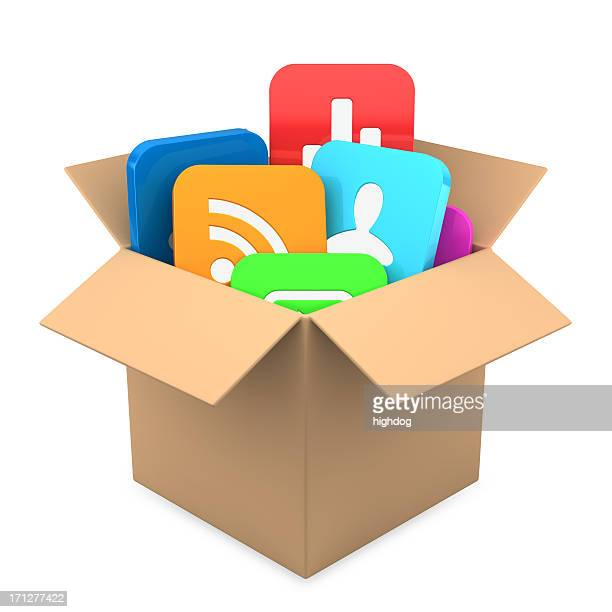 Apps inside present  box