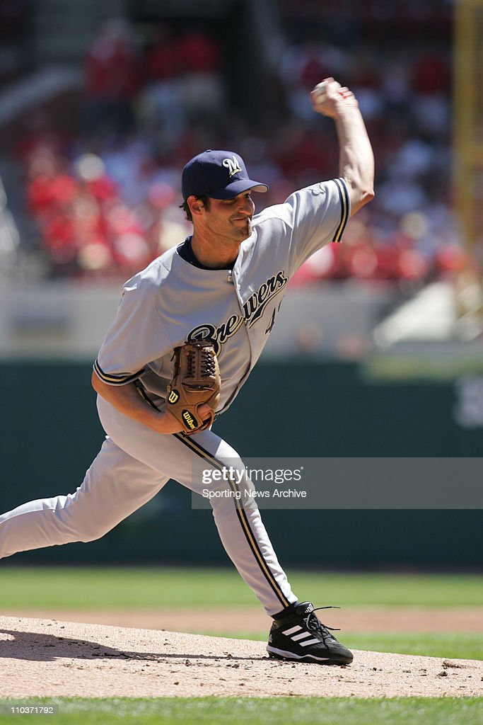 Apr 13, 2006; St. Louis, MO, USA; Brewers' DOUG DAVIS throwing a pitch at The Milwaukee Brewers at the St. Louis Cardinals game at the new Busch Stadium in St. Louis. The Brewers won the game 4-3 in 11 innings.