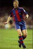 Ronald Koeman of Barcelona in action during the European Cup SemiFinal match against Porto played in the Nou Camp Stadium in Barcelona Spain The...