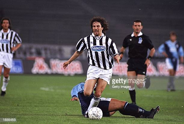Alessandro del Piero of Juventus in action during a Series A match against Lazio at the Delle Alpi Stadium in Turin Italy Juventus won the match 21...