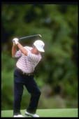 Gary Player of South Africa prepares to drive the ball at the PGA Senior Championship at the PGA National Resort and Spa in Palm Beach Florida