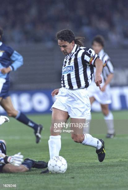 Roberto Baggio of Juventus FC in action during a match against Lazio SS at the Delle Alpi Stadium in Turin Italy Juventus won the match 21 Mandatory...
