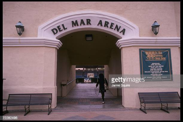Entrance to the Del Mar Fairgrounds during the Del Mar National Horse Show in California Mandatory Credit Jamie Squire /Allsport