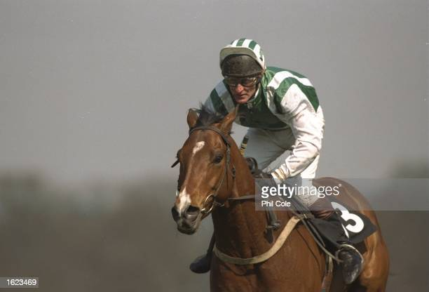 Pat Eddery of Ireland in action during a race at Ascot racecourse in Ascot England Eddery finished in second place Mandatory Credit Phil Cole/Allsport