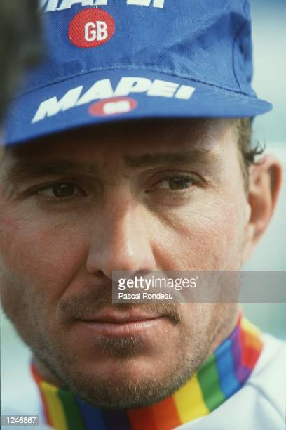 Portrait of Johan Museeuw of Belgium winner of the 100th Paris Roubaix in a record time of 6 hours 3 mins Mandatory Credit Pascal Rondeau/ALLSPORT