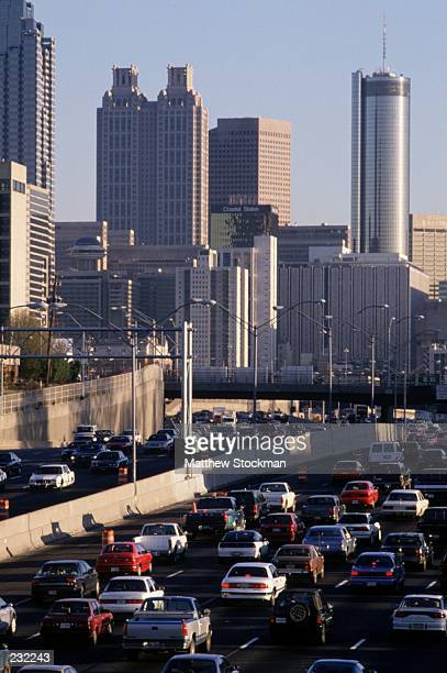 Rush hour traffic in downtown Atlanta Georgia Mandatory Credit Matthew Stockman/ALLSPORT