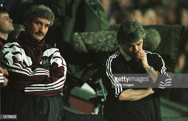 Terry McDermott and Kevin Keegan of Newcastle are a picture of despair after Blackburn's winning goal during the Blackburn v Newcastle Premier League...
