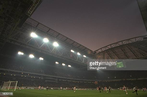 A general view of the Champions League SemiFinal first leg between Ajax and Juventus at the Amsterdam Arena in Amsterdam Holland Juventus won 21...