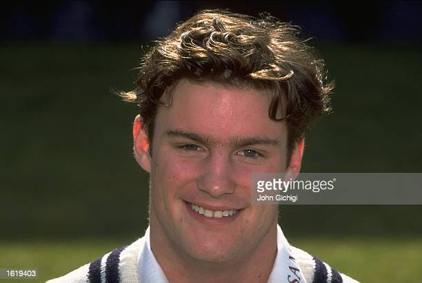 A portrait of Andrew Strauss of Middlesex County Cricket Club at Lord's London Mandatory Credit John Gichigi /Allsport