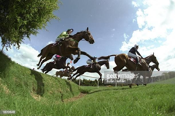 General view of racing at Punchestown in Ireland Mandatory Credit Julian Herbert /Allsport