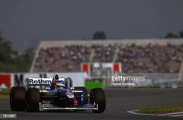 Jacques Villeneuve of Canada driving his WilliamsRenault during the Argentinian Grand Prix at Buenos Aires Argentina Mandatory Credit Pascal Rondeau...
