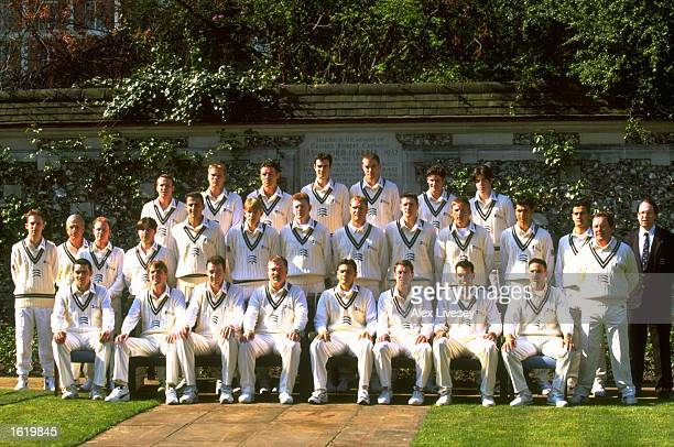 The Middlesex County Cricket Club team photo at Lords in London England Mandatory Credit Alex Livesey /Allsport