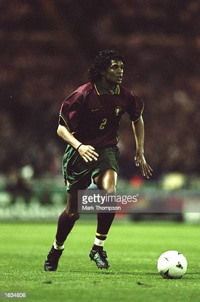Abel Xavier of Portugal in action during the International Friendly game against England at Wembley in London England won 30 Mandatory Credit Mark...