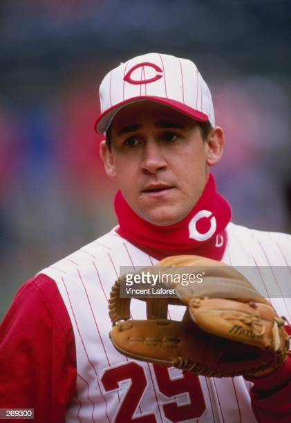 Infielder Bret Boone of the Cincinnati Reds in action during a game against the Los Angeles Dodgers at Cynergy Field in Cincinnati Ohio The Reds...