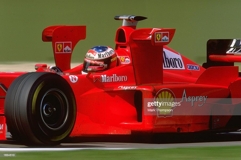Michael Schumacher of Germany and Ferrari in action in the San Marino Grand Prix at Imola, Italy. Schumacher finished in second place with team-mate Eddie Irvine following in third place. \ Mandatory Credit: Mark Thompson /Allsport