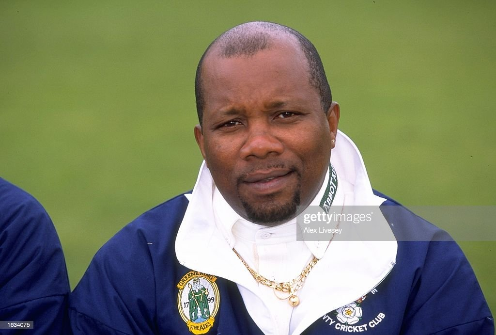 Portrait of coach Malcolm Marshall of Hampshire CCC at the County Ground in Southampton England Mandatory Credit Alex Livesey /Allsport
