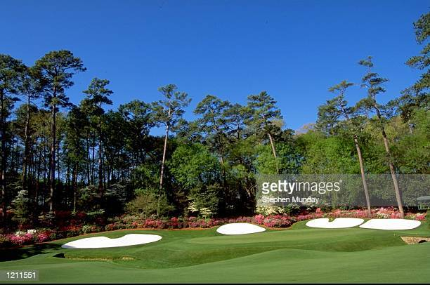 A general view of the 13th green before the 1999 US Masters at the Augusta National GC in Augusta Georgia USA Mandatory Credit Stephen Munday...