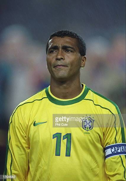 A portrait of Romario of Brazil before a match against Barcelona to commemorate the club's centenary at the Nou Camp in Barcelona Spain Mandatory...