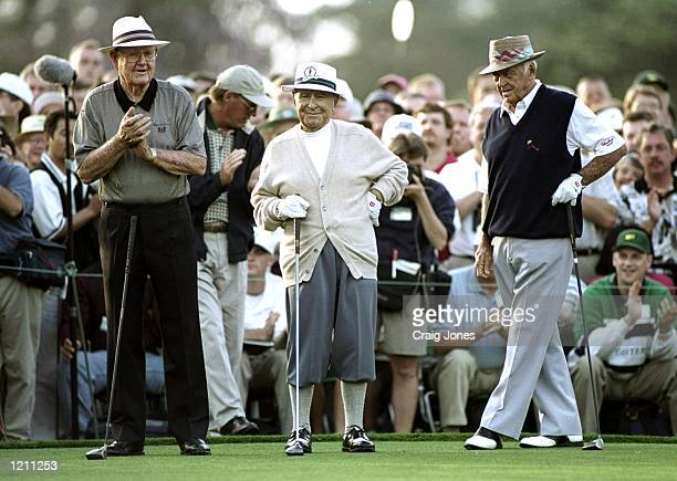 Byron Nelson Gene Sarazen and Sam Snead start the 1999 US Masters at the Augusta National GC in Augusta Georgia USA Mandatory Credit Craig Jones...
