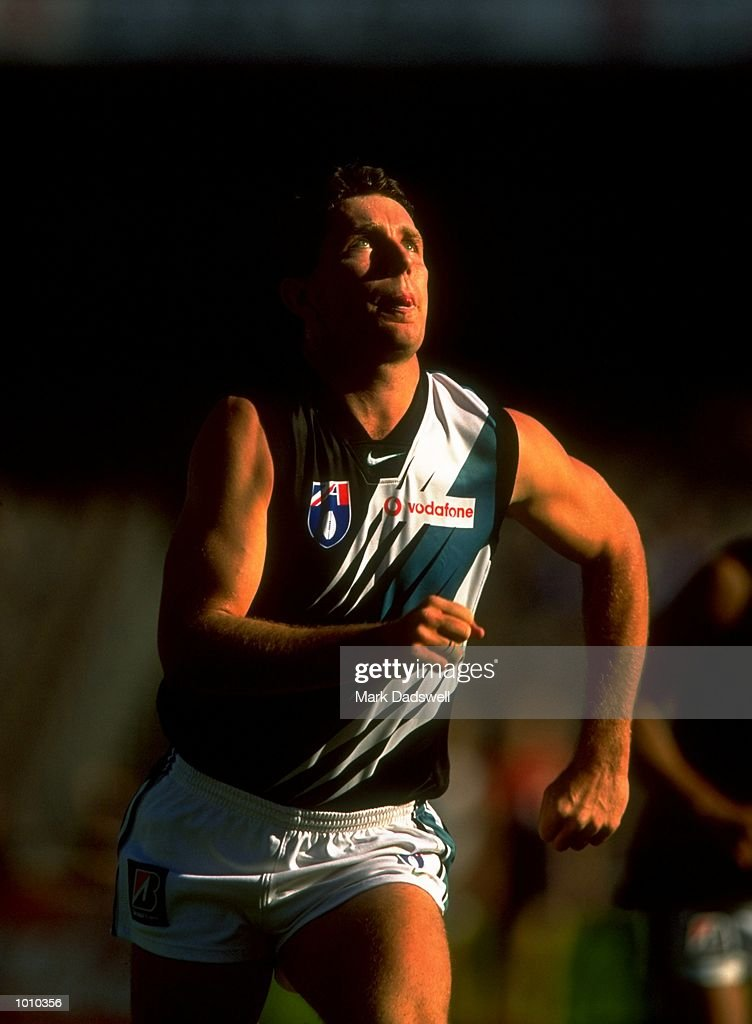 Darren Head of Port Adelaide in action during the AFL Premiership Round 5 match against the Melbourne Demons at the MCG, Melbourne, Australia. The game finished with the Melbourne Demons (90) defeating Port Adelaide (66). \ Mandatory Credit:Mark Dadswell /Allsport