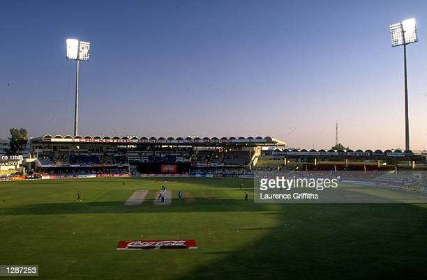 General view of the Sharjah CA Stadium as England take on Pakistan in the Coca Cola Cup in Sharjah UAE Mandatory Credit Laurence Griffiths /Allsport