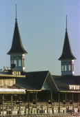 General view of the twin spires on the grandstands before for the 125th Kentucky Derby at Churchill Downs in Louisville Kentucky Mandatory Credit...